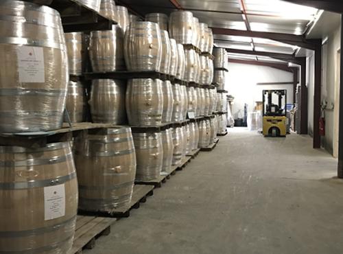 Les futurs tonneaux pour les whiskies Ninkasi.