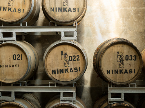 Les fûts de Ninkasi Whisky Chardonnay